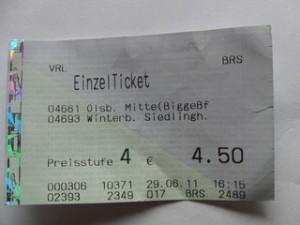 Siedlinghausen-Olsberg einfach 2011: 4,50€ jetzt 4,80€  (archiv: zoom)