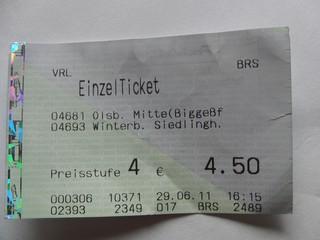 Morgen werde ich mir wieder zwei von diesen Tickets sparen. (foto: zoom)