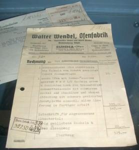 Rechnung über eine Kachelofen aus dem Jahr 1942