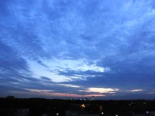 Himmel am Niederrhein, abends (foto: zoom)