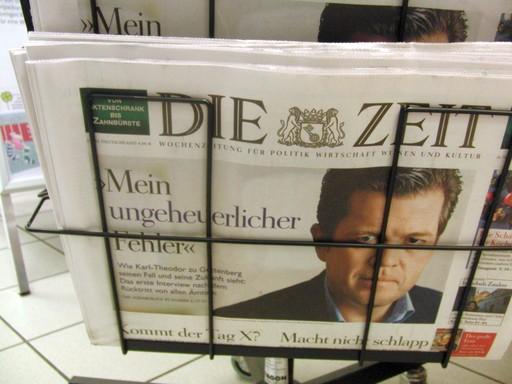 Die Zeit macht sich zum Büttel des Scheinheiligen Betrügers Guttenberg (foto: zoom)