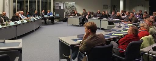 Gestern Abend im Kreishaus Meschede: Diskussionsveranstaltung der Grünen. (foto: joch-eren)
