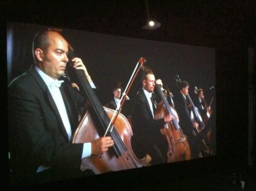 Multimediale Installation des Konzertabends (fotos: pohl)