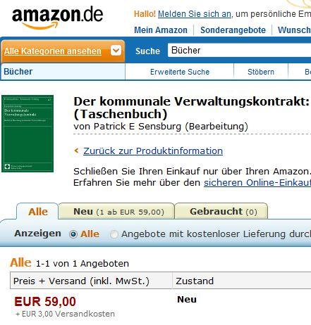 Über Amazon für 58 Euro plus 3 Euro Versandkosten zu erwerben und auf seinen Gehalt zu prüfen: Der Kommunale Verwaltungstrakt.