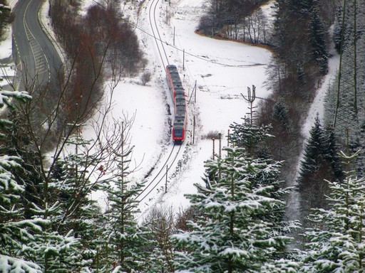 Bahn statt Autobahn. Zurück auf dem Weg von Winterberg nach Dortmund.