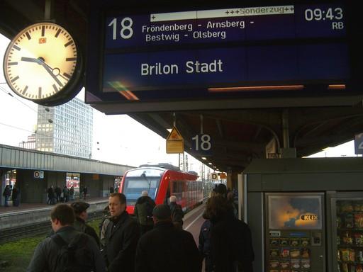 Dortmund Hbf: Ein historischer Moment auf Gleis 18.