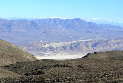 Death Valley vom Ausgangspunkt San Antonio