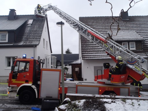 Schnell gelöscht: Dachstuhlbrand in der Georgstraße.