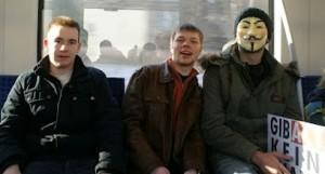 In der Bahn nach Dortmund (alle fotos: florian otto)