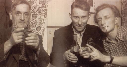 Vor 62 Jahren: mein Großvater beim Siedlerjubiläum in Buer (archiv: zoom)