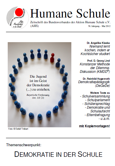 """Zeitschrift """"Humane Schule"""" (38. Jg., Mai 2012) mit dem Themenschwerpunkt """"Demokratie in der Schule"""""""