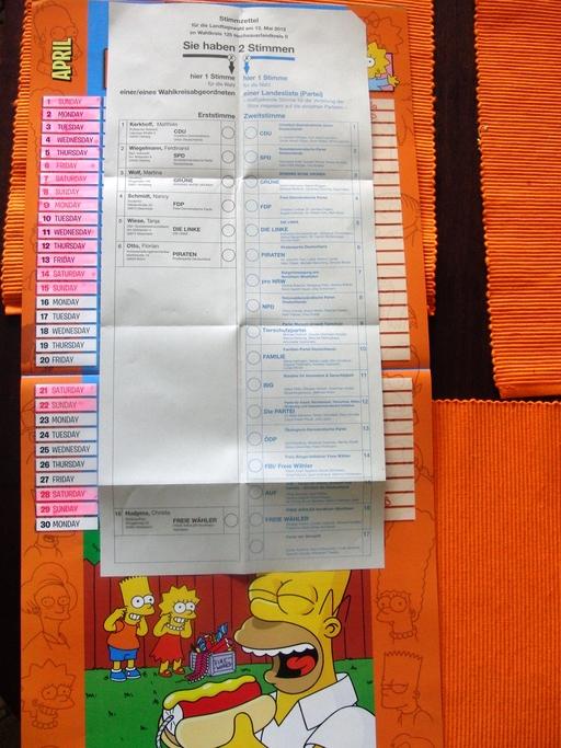 Gut zwei Wochen Zeit zum Grübeln. Der Stimmzettel für den Wahlkreis HSK II ist eingetroffen. (foto: zoom)