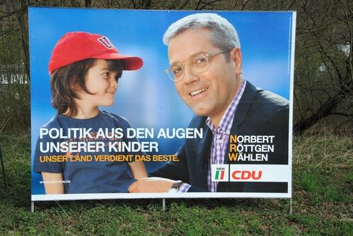Zwei, die nicht zusammenpassen. Misslungenes Wahlplakat der CDU. (foto: denkmal)