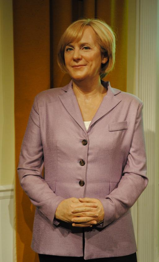 Teflon-Merkel  - unangreifbar? Nein, meint Frau Tu. (foto: chris)