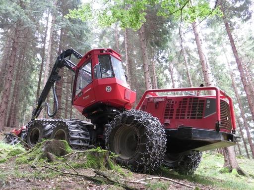 Die Waldarbeiten unterhalb der Krämerhöhe ruhten am Sonntag. (foto: zoom)