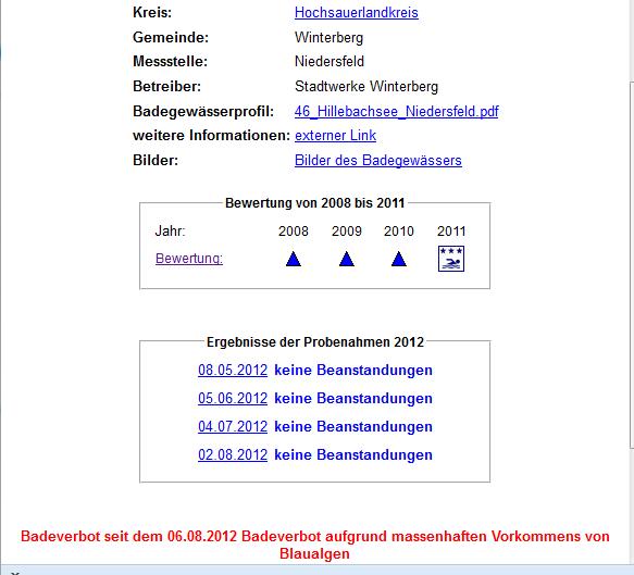Keine Beanstandungen am 2. August, Verbot am 6. August. (screenshot: zoom)