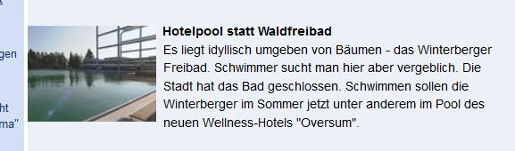 Jetzt auch im Fernsehen. die Schließung des Winterberger Freibads. (screenshot: zoom)