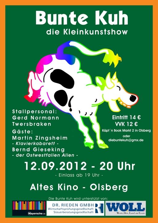 Die Bunte Kuh gastiert in Olsberg und Neheim (siehe Text)
