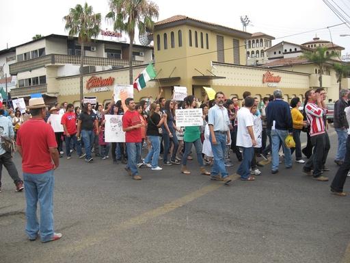 Demonstationen in Mexico City (foto: Marion Koerdt)