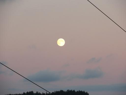 Laufend: Mond über dem Tal der Namenlose zwischen zwei Stromkabeln (foto: zoom)