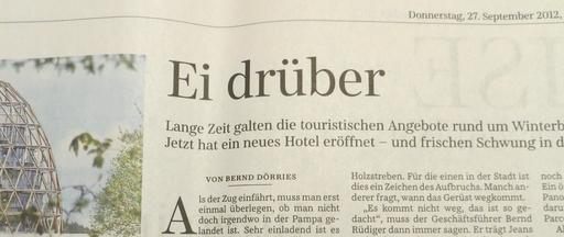 Reklame-Artikel für das Oversum in der Süddeutschen Zeitung (foto: zoom)