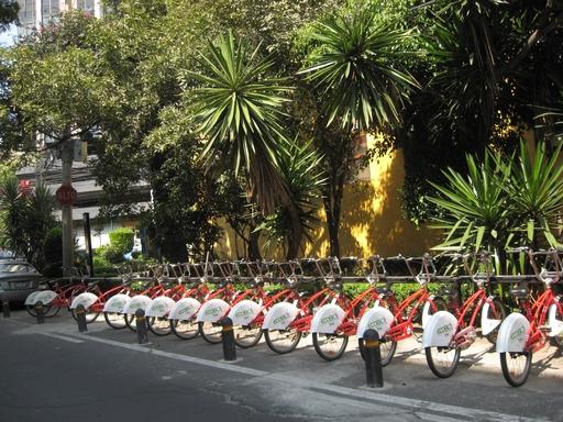 Und noch etwas Neues aus unserem Barrio: Seit kurzem stehen Leihfahrräder an den Straßen. Einmal registrieren lassen und schon kann es losgehen. Vielleicht ist das auch eine Form der natürlichen Bevölkerungsregulierung: Denn Radfahren ist hier eher lebensbedrohlich als gesundheitsfördernd. (fotos: koerdt)