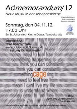 Köln hat mehr zu bieten als einen Dom: Musik von John Cage