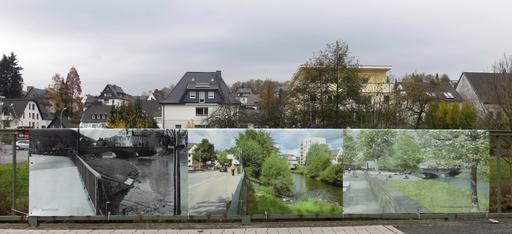 """""""Wissen Wasser Wandel"""": Schautafeln an der Ruhr neben der Hennemündung (foto: zoom)"""