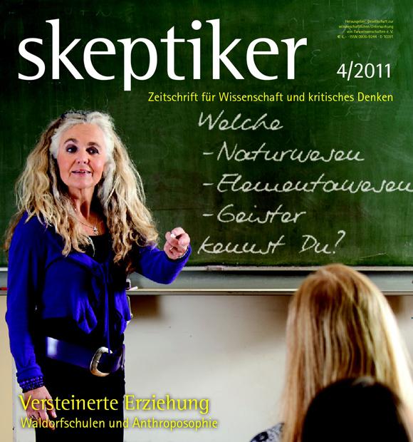 """Cover (Ausschnitt) der Ausgabe 4/2011 des Magazins """"Skeptiker"""", dort Erstveröffentlichung im Print"""