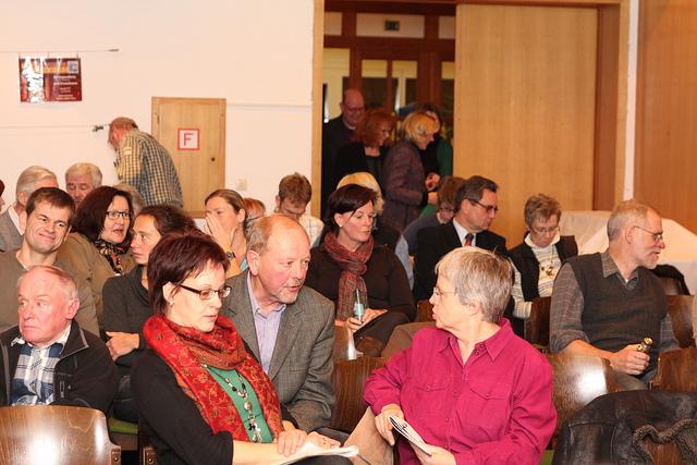 SPD vor Ort. Diskussionen auch im Publikum (foto: spd)