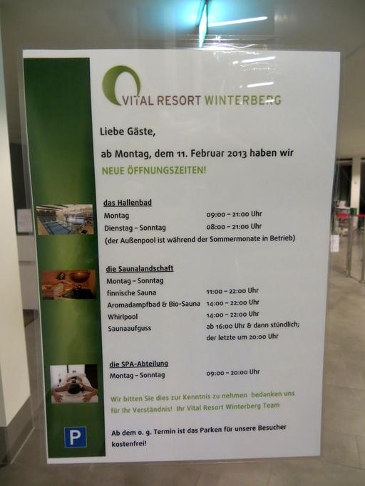 Die Vitalresort GmbH hat auf die Krise reagiert und die Öffnungszeiten verkürzt. (foto: zoom)