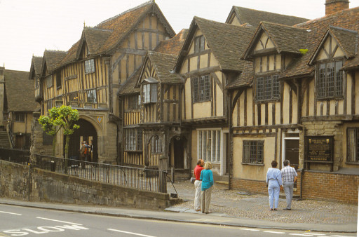 Das Lord Leycester Hospital in Warwick 1988 (foto: chris)