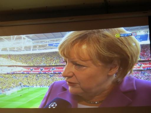 Merkel - Champions League
