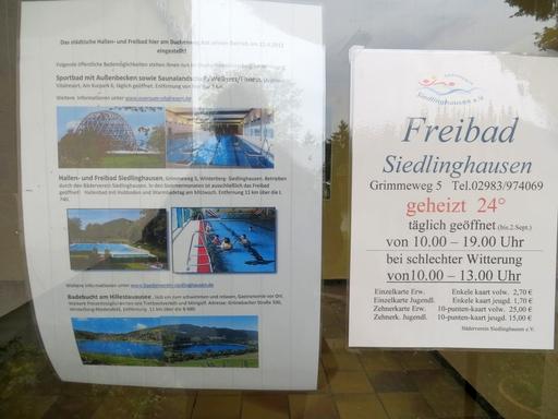 Hallen- und Freibad Betrieb eingestellt