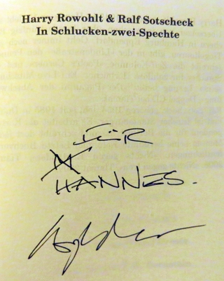 Autogramm Harry Rowohlt