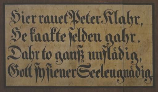 Tafel im Münster Bad Doberan