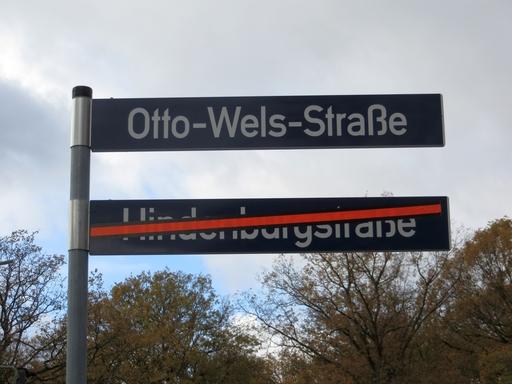 DiemHindenburgstraße im Hamburger Stadtpark ist im September in Otto-Wels-Straße umbenannt worden. (foto: zoom)