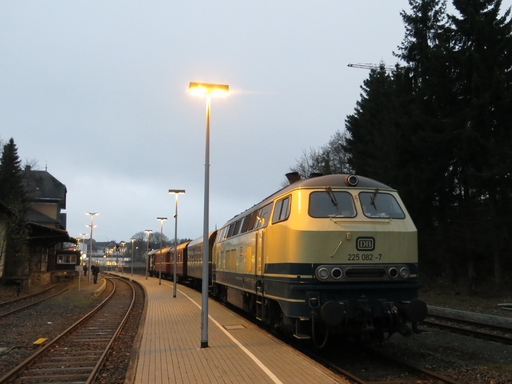 Diesel geht immer. Melancholische Nostalgie am Bahnhof in Winterberg (foto: zoom)
