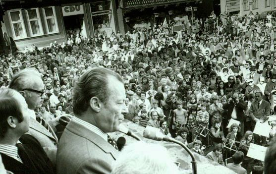 Willy Brandt in Hann. Münden