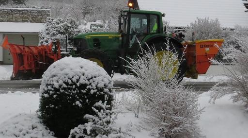 Heute Morgen bequemte sich der Winter zu uns. (foto: zoom)