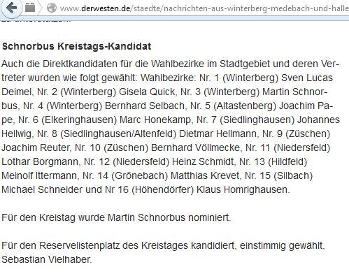 CDU Kandidaten