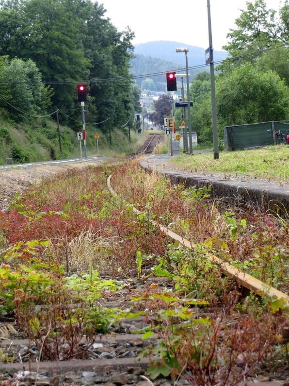 1100 Meter liegen zwischen den Einfahrsignalen. Blick Richtung Winterberg (fotos: zoom)