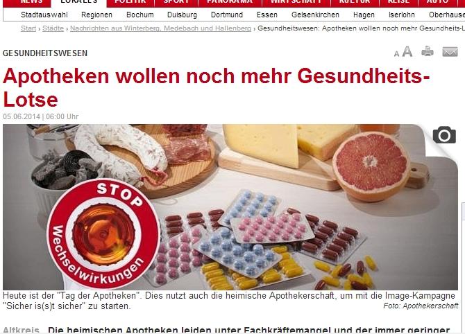 Lotsen oder Lose? Wenn der Artikel wenigstens spannend wäre ... (screenshot: 6.6.2014 22.00)