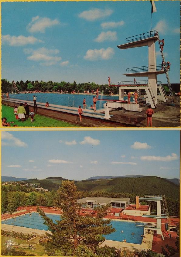 Zwei alte Ansichtskarten, freundlich zur Verfügung gestellt vom Besitzer der Ansichtskarten, Rüdiger Schauerte (Bearbeitung: zoom)