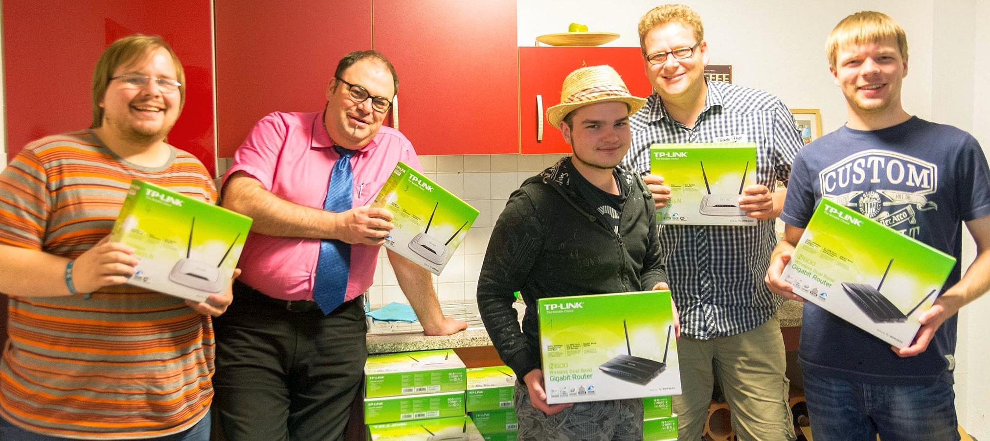 Die Arnsberger Freifunker sind stolz auf ihr Netz. (foto: piraten)