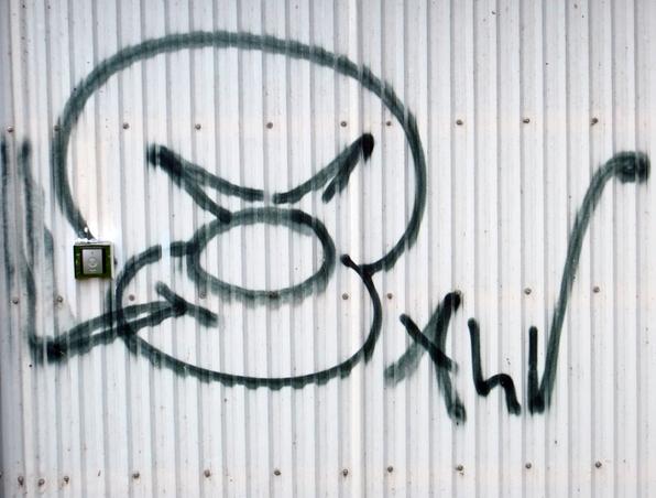 Heute gesehen, geknippst - Graffiti (foto: zoom)