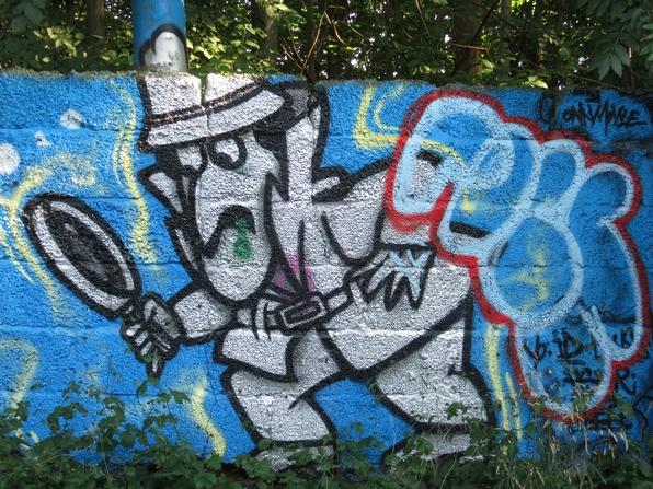 Guck mal! Wo dieses Graffiti ist, weiß doch jedes Kind ... (foto: zoom)