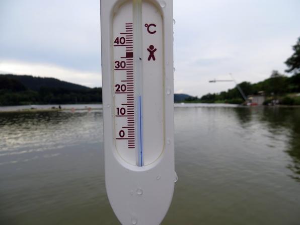 Die höchste Temperatur, die wir dieses Jahr im Hillebachsee gemessen haben.