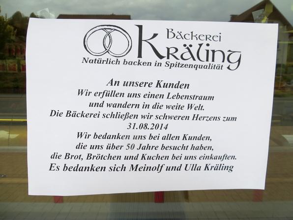 Meinolf und Ulla Kräling wollen nach Neuseeland auswandern. Die Bäckerei schließt. (foto: zoom)