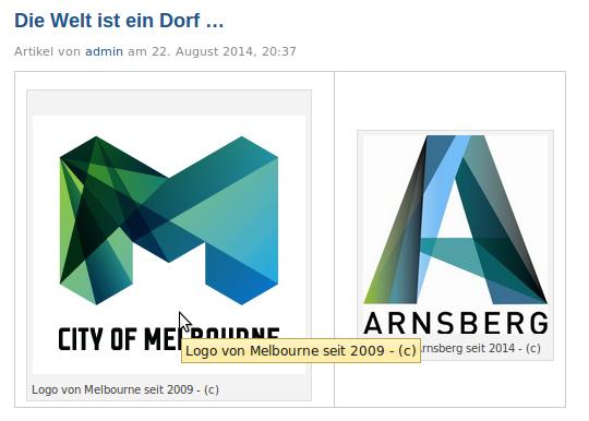 Eine gewisse Ähnlichkeit zwischen den beiden Logos kann man wahrnehmen (screenshot)